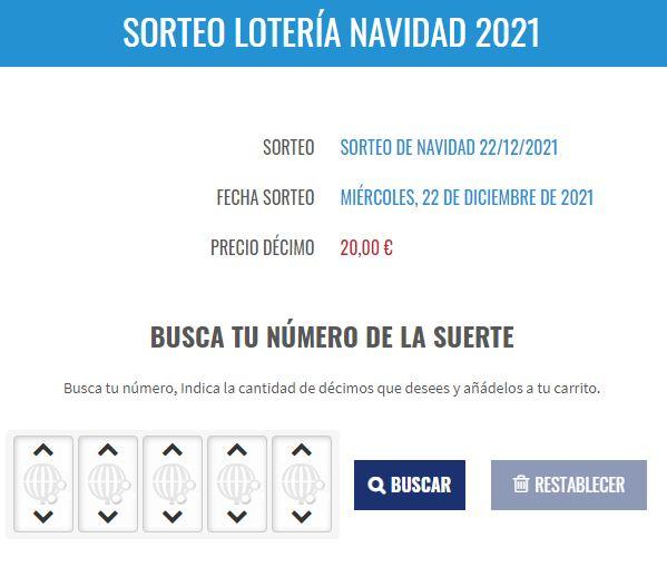 Buscador de numeros de Loteria de Navidad